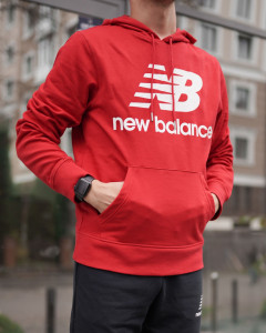 Кофта New Balance NB Ess Stacked Logo Po